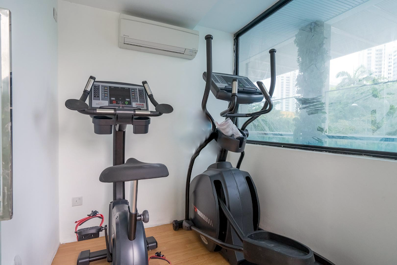 Gym at Sky View Studio Apartments, East Coast