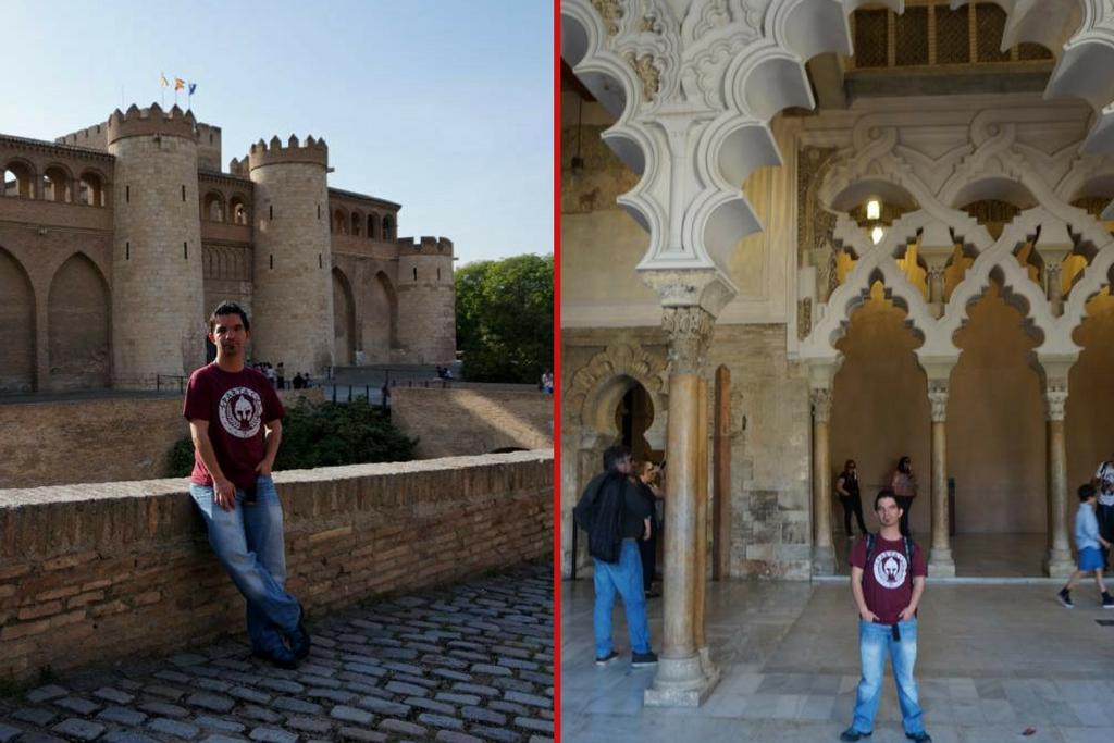 EuropeosViajeros en Zaragoza con una de las camisetas Dezuu