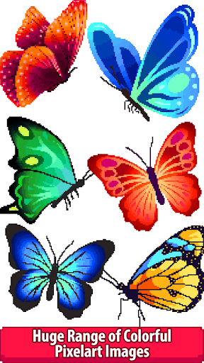 butterfly color by number - pixel art sandbox draw screenshot 2