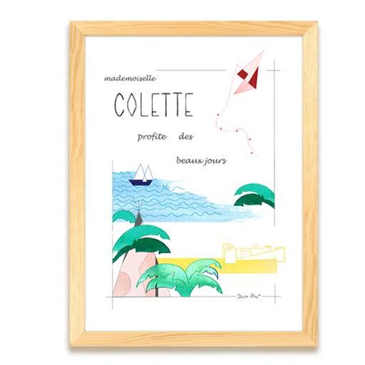 Cadeau de naissance - Affiche personnalisée - tableau vacances - chambre d'enfants - Illustre Albert