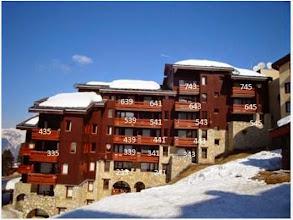 Photo: Béryl, façade sud, avec les appartements numérotés. Le nôtre est le 543.