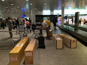 Photo: Baggage collection on arrival in Zurich.