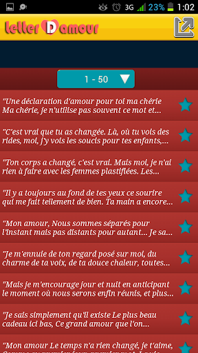 Lettres D'amours SMS