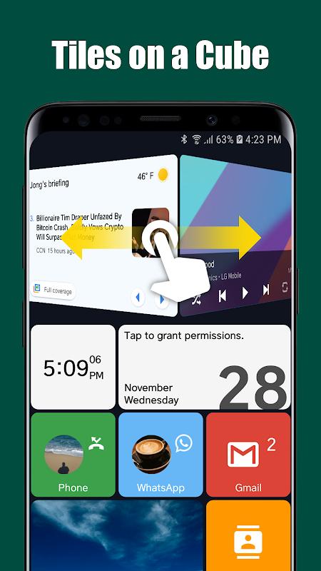 Square Home 3 - Launcher : Windows style screenshots