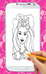 Coloring Book For Barbie APK screenshot thumbnail 1