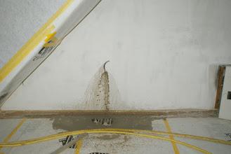 Photo: Durchstich ! nach 2.70 Meter durch Turm- und Kirchenmauer