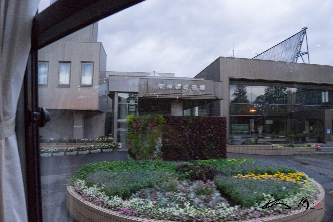 役場前の花壇