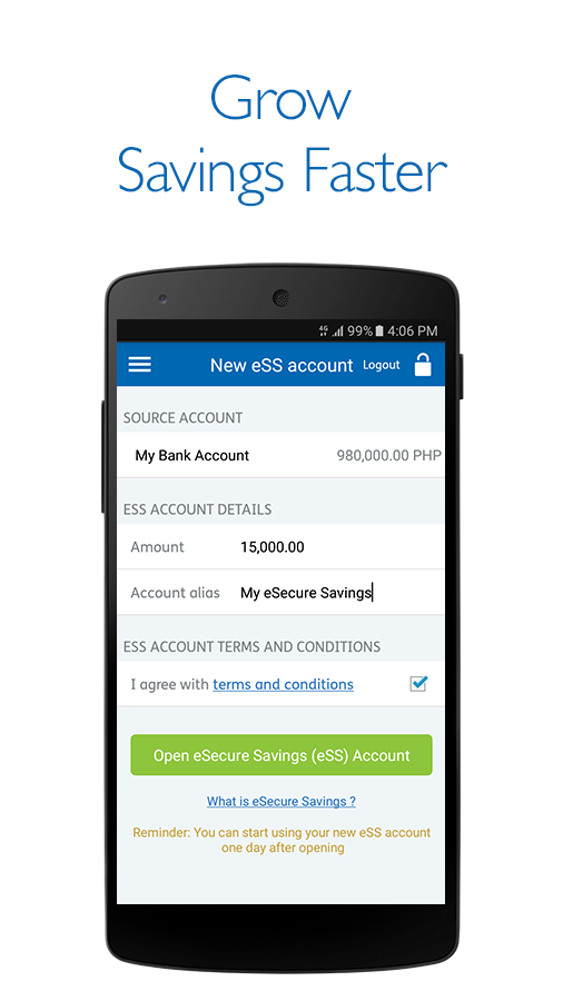 Security Bank Mobile App- screenshot