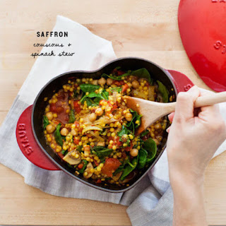 Saffron Couscous & Spinach Stew.
