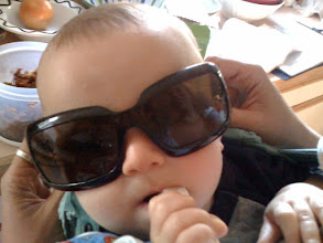 Photo: eating jicama and in Auntie Ingrid's sunglasses