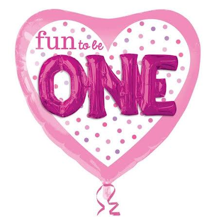 Folieballong - Fun to be one, rosa