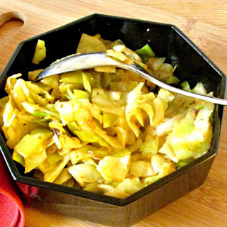 Simple Sauteed Cabbage with Harissa