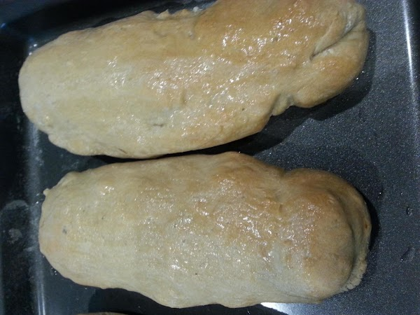 Bake at 450 for about 20 minutes or until golden brown, brush with melted...