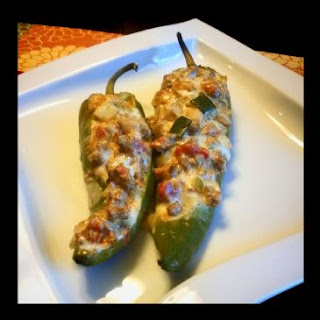 Low-Carb Cheesy Stuffed Poblano Peppers.