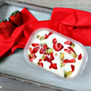 No Churn Strawberry Kiwi Ice Cream Recipe