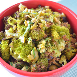 Roasted Romanesco with Tarragon, Olives, and Lemon.
