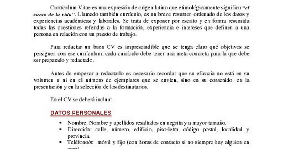 03 El Curriculum Vitae Pdf Google Drive