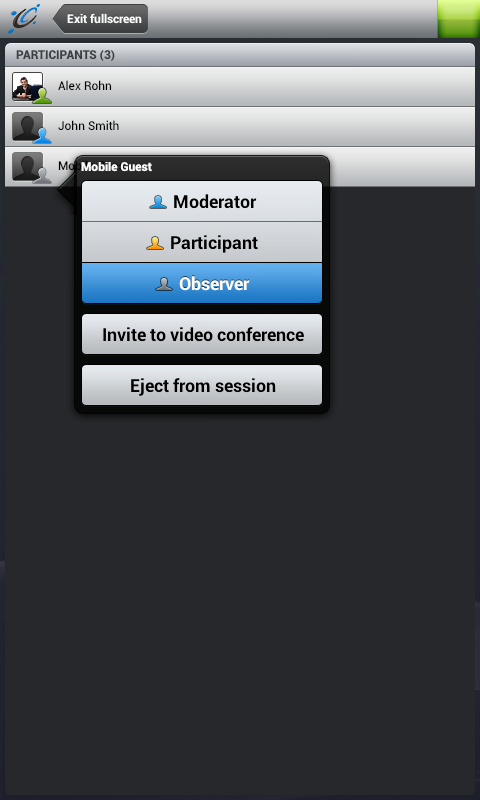 Unlimited Conferencing- screenshot