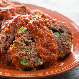 Basil and Mozzarella Stuffed Meatloaf
