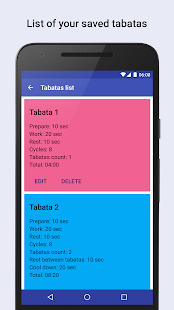 Tabata timer Interval timer- screenshot thumbnail