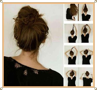 Hair Style Step By Step Cool Easy Hairstyle Stepsteps  Android Apps On Google Play