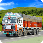 Indian Truck Driver Cargo New Icon