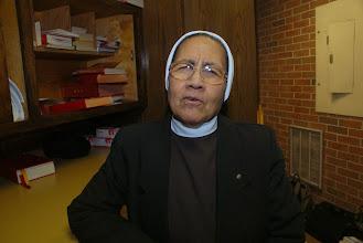Photo: Hermana Guillermina Gaspar, participante y asistente liturgica en las celebraciones en San Judas Tadeo