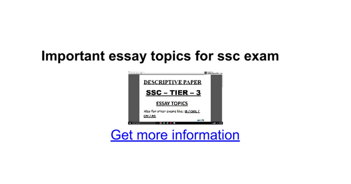 Important essay topics for ssc exam google docs altavistaventures Image collections