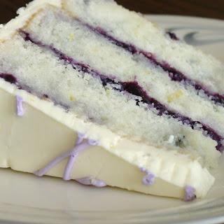 Lemon Blueberry Marble Cake.