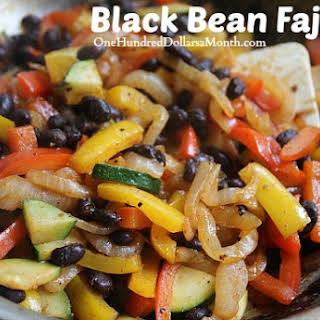 Vegan Friendly Black Bean Fajitas.