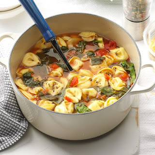 Spinach & Tortellini Soup.