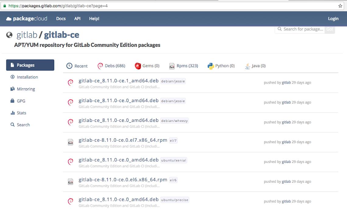 Gitlab Versi Lama