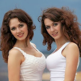 Twins by Deanie Valdrama - People Portraits of Women ( love, sisters, beauty, stunning, twins )