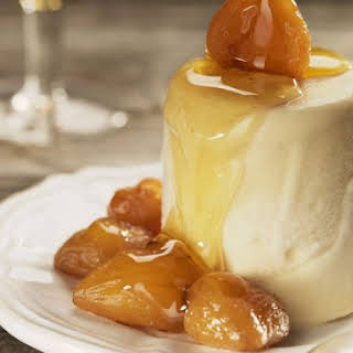 Maple Caramel Creams with Candied Chestnuts.