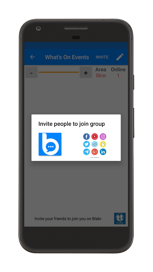 BLABR Free Messenger App - chat with people nearby- screenshot