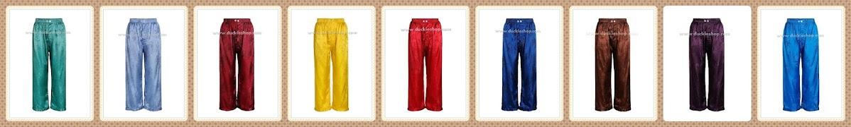 กางเกงใส่นอน ชุดนอนผู้ชายขายาวใส่สบาย ผ้าแพรจีนแท้ ผ้าแพรโบราณ