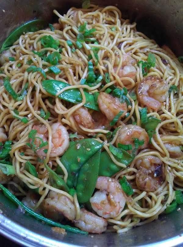 Shrimp & Snow Peas Lo Mein Recipe