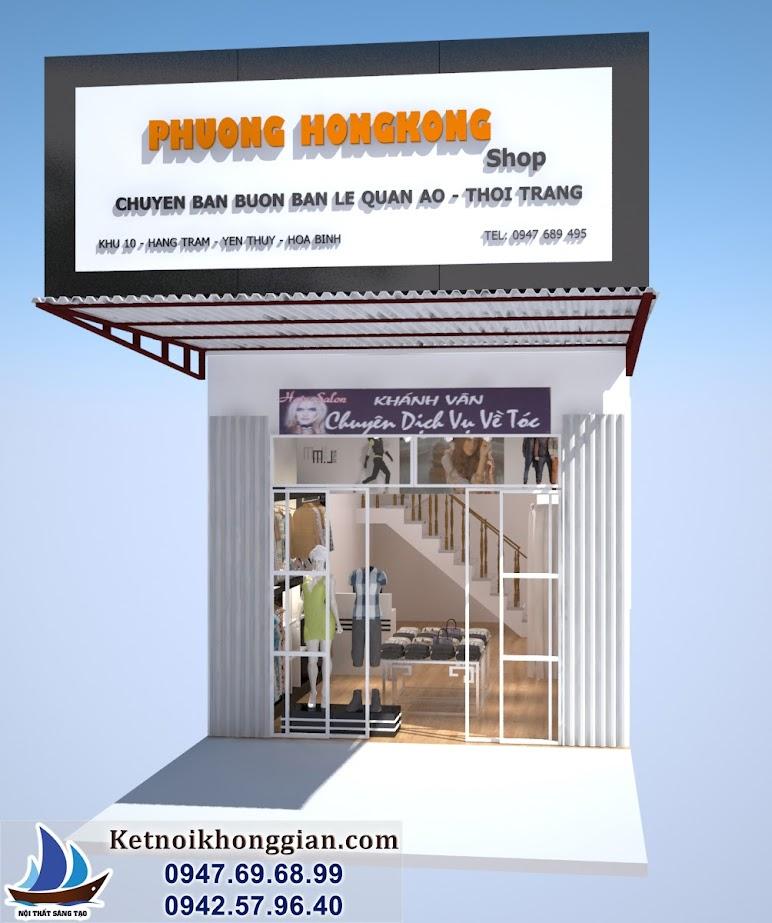 thiết kế cửa hàng thời trang giá rẻ đơn giản