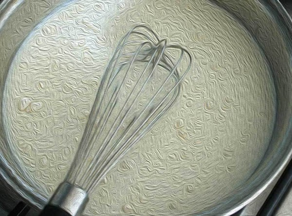 Begin by whisking the flour, milk, water, and yeast into a thick liquid. A...