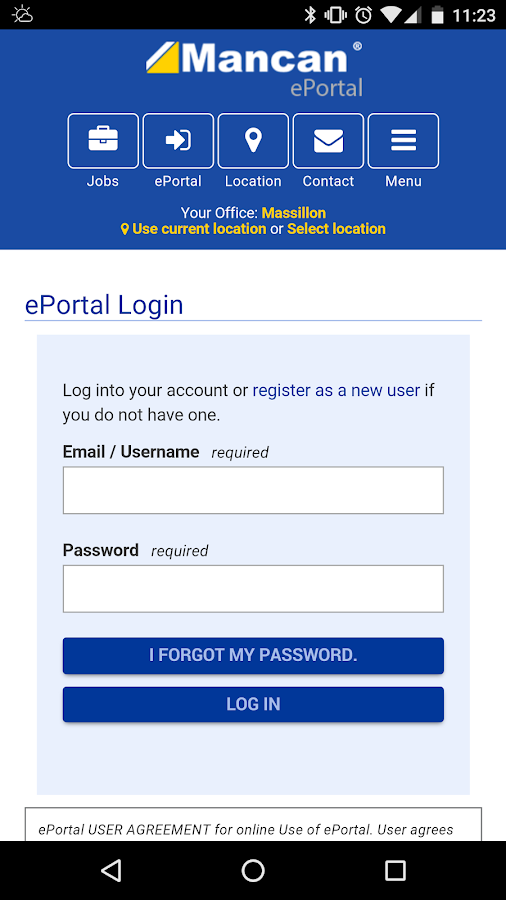 Mancan ePortal- screenshot