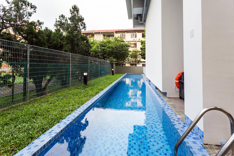 Pool side at Duplex Penthouse near Dakota MRT Station