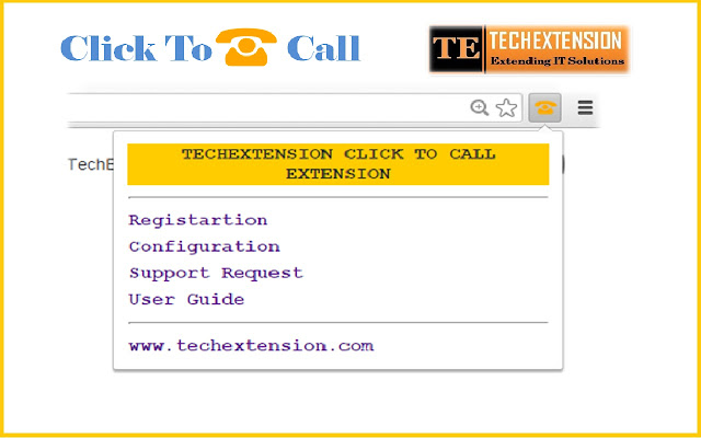 Click To Call Chrome Extension