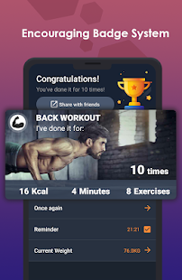 ManFIT – Muscle building Exercise, Home Workout Screenshot