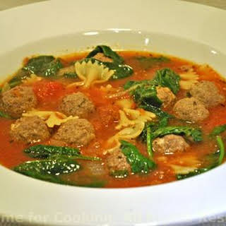 Meatball Pasta Soup.
