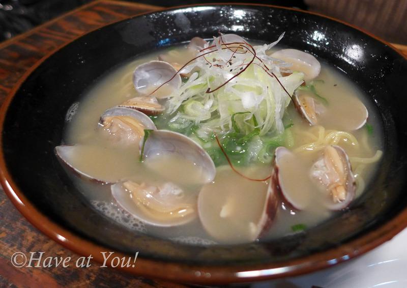 ramen with clams