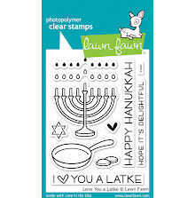 Lawn Fawn Clear Stamps 3X4 - Love You A Latke