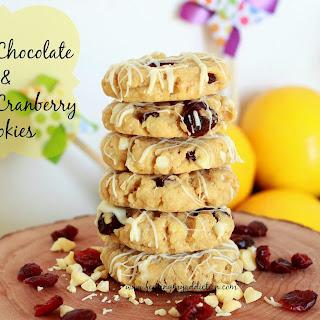 White Chocolate & Lemon Cranberry Cookies.