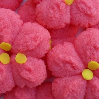 Raspberry Jello Spritz-Christmas Poinsettia Blossoms