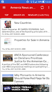 Armenia News and Radio - náhled