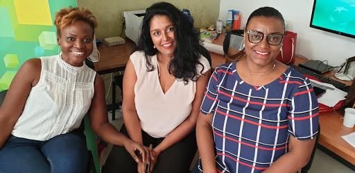 3 entrepreneures de Guadeloupe qui sont allées témoigner de leur parcours auprès des élèves